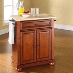 Crosley Alexandria Kitchen Island Unfinished Base Cabinets Natural Wood Top Portable