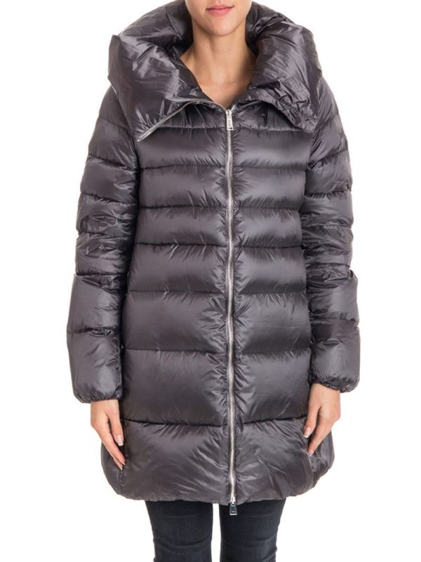 Add - Long Padded Jacket Smoke Pearl Women'