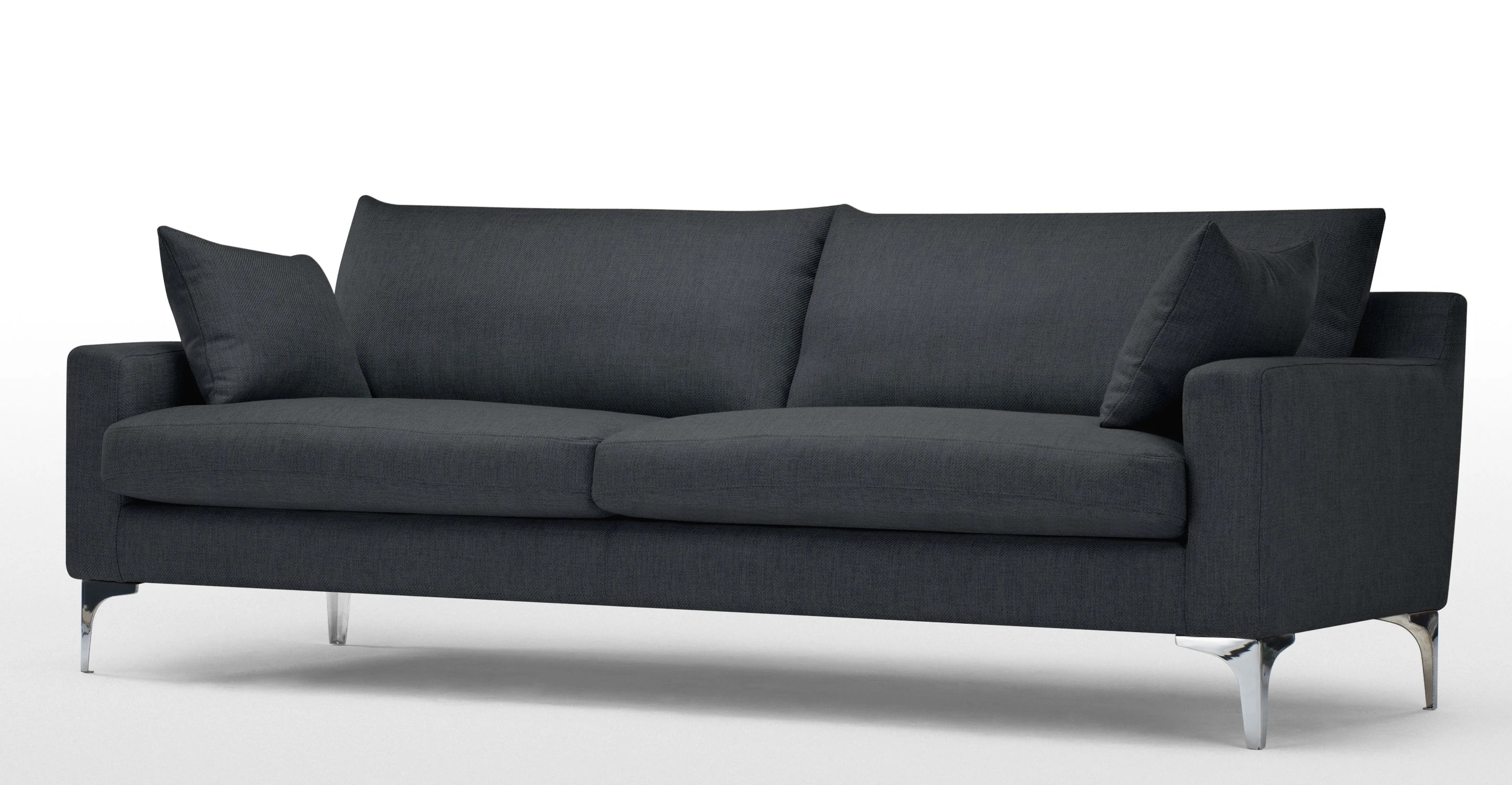 best sofas on the high street modern sectional houston tx mendini 3 seater sofa in anthracite grey made