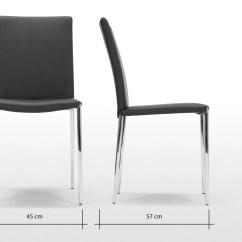 Black Dining Room Chairs With Chrome Legs What States Still Use The Electric Chair 2 X Braga Crow