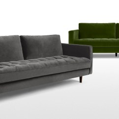 Cotton Velvet Sofa Small Sectional With Chaise And Ottoman Scott 3 Seater Grass Made