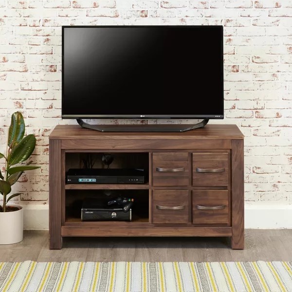 walnut furniture living room shades of paint for wooden store mayan four drawer television cabinet