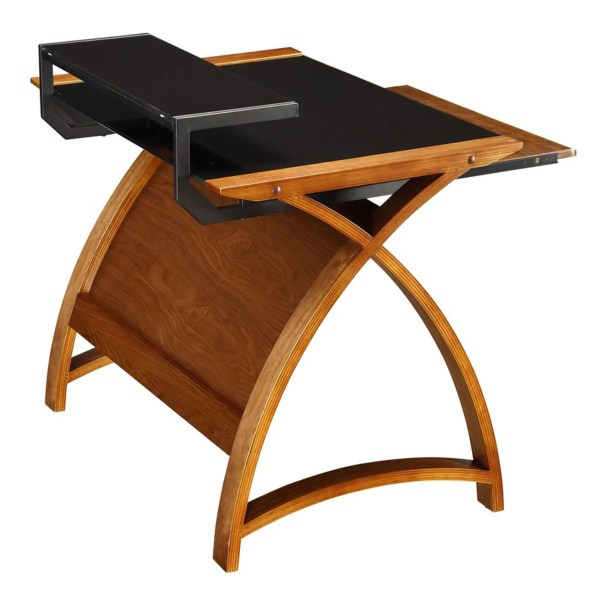 Curve Home Office Walnut Desk 90cm 325.00 269.00 - Wooden Furniture Store