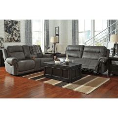 Orange Color Sofa Sets Hickory Hill Signature Design By Ashley Austere Gray 2 Seat Reclining