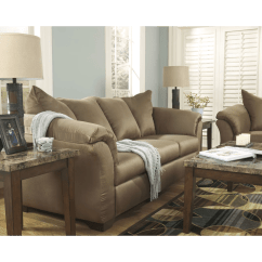 Ashley Darcy Sleeper Sofa Review Gus Sectional Signature Design By Mocha Full