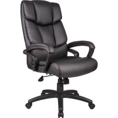Boss Ntr Executive Leatherplus Chair Bean Bag Chairs For Boys Office Products Black Top Grain Leather