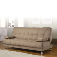 Coaster Futon Sofa Bed With Removable Armrests Review Modern Covers Tan Fabric Convertible