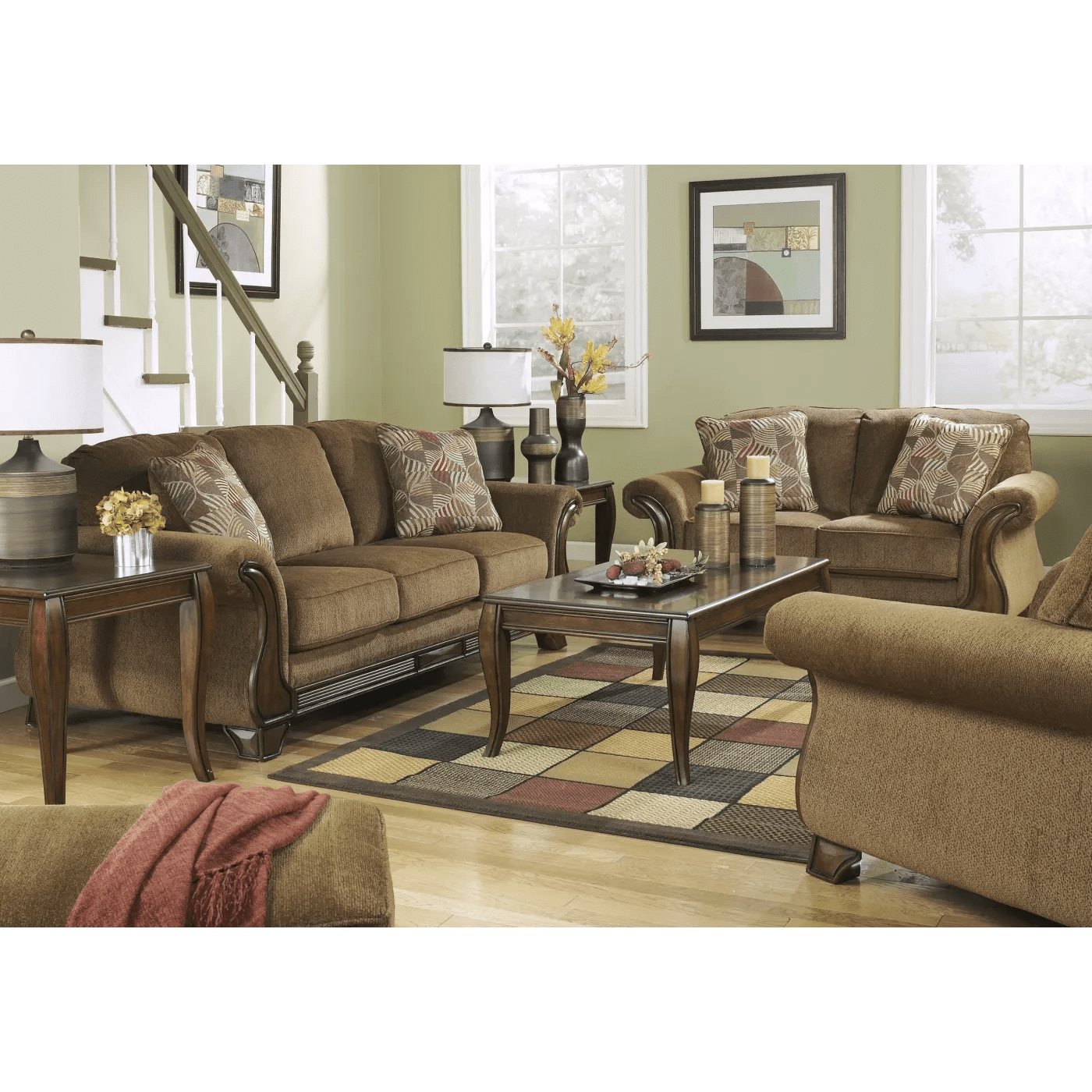 ashley furniture montgomery sofa suppliers edinburgh signature design by mocha 3 piece living