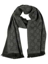 Gucci - Gucci GG Pattern Knit scarf - Grey, Women's ...