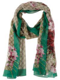 Gucci - Gucci Blooms Supreme Shawl Scarf - Green, Women's ...