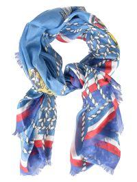 Gucci - Gucci Tiger Print Scarf - Azzurro, Men's Scarves ...