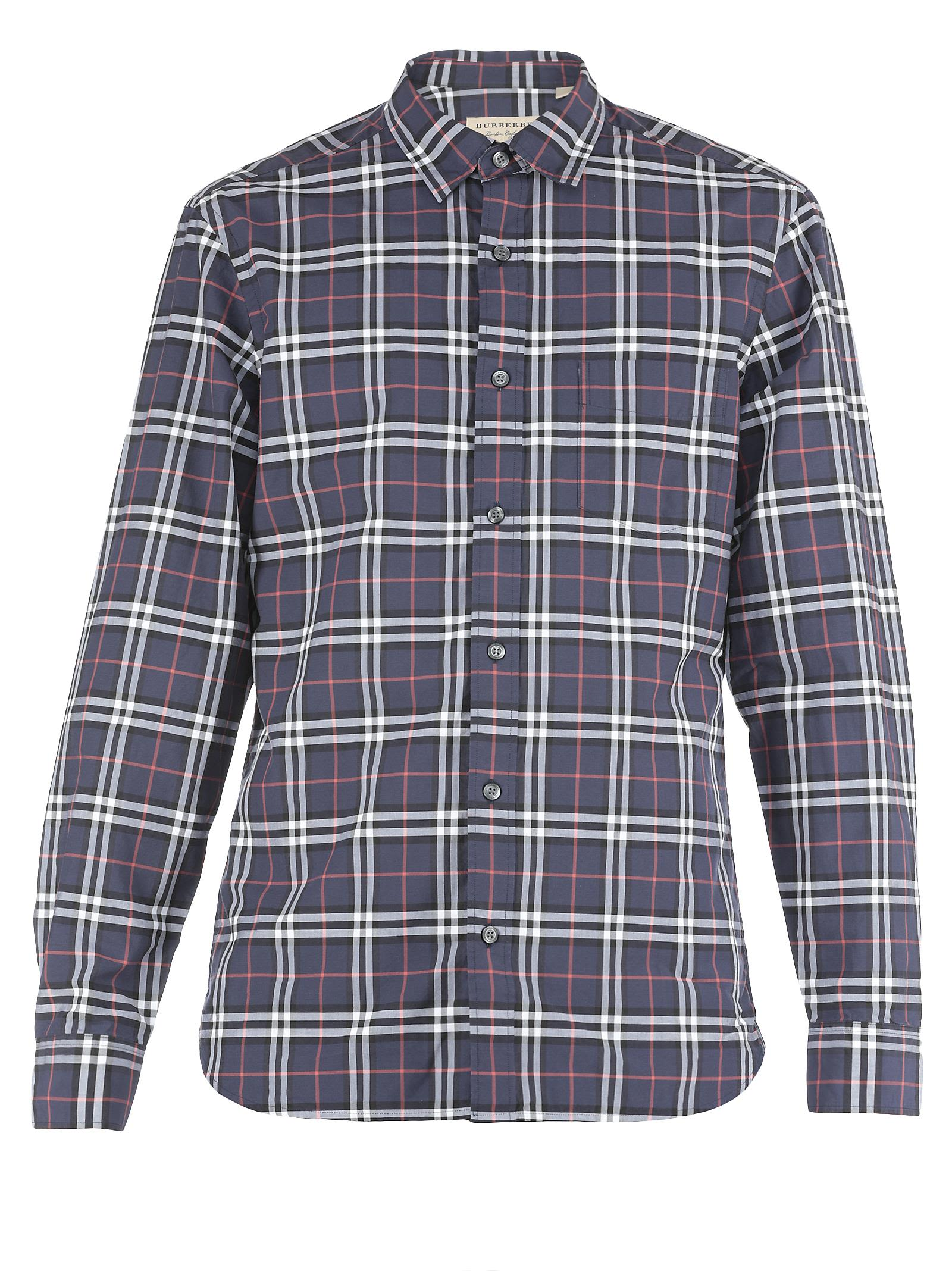 italist | Best price in the market for Burberry Burberry Alexander Shirt - NAVY - 10627227 | italist