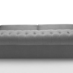 Grey Leather Chesterfield Sofa Dark Brown With Pillows Branagh 3 Seater Made