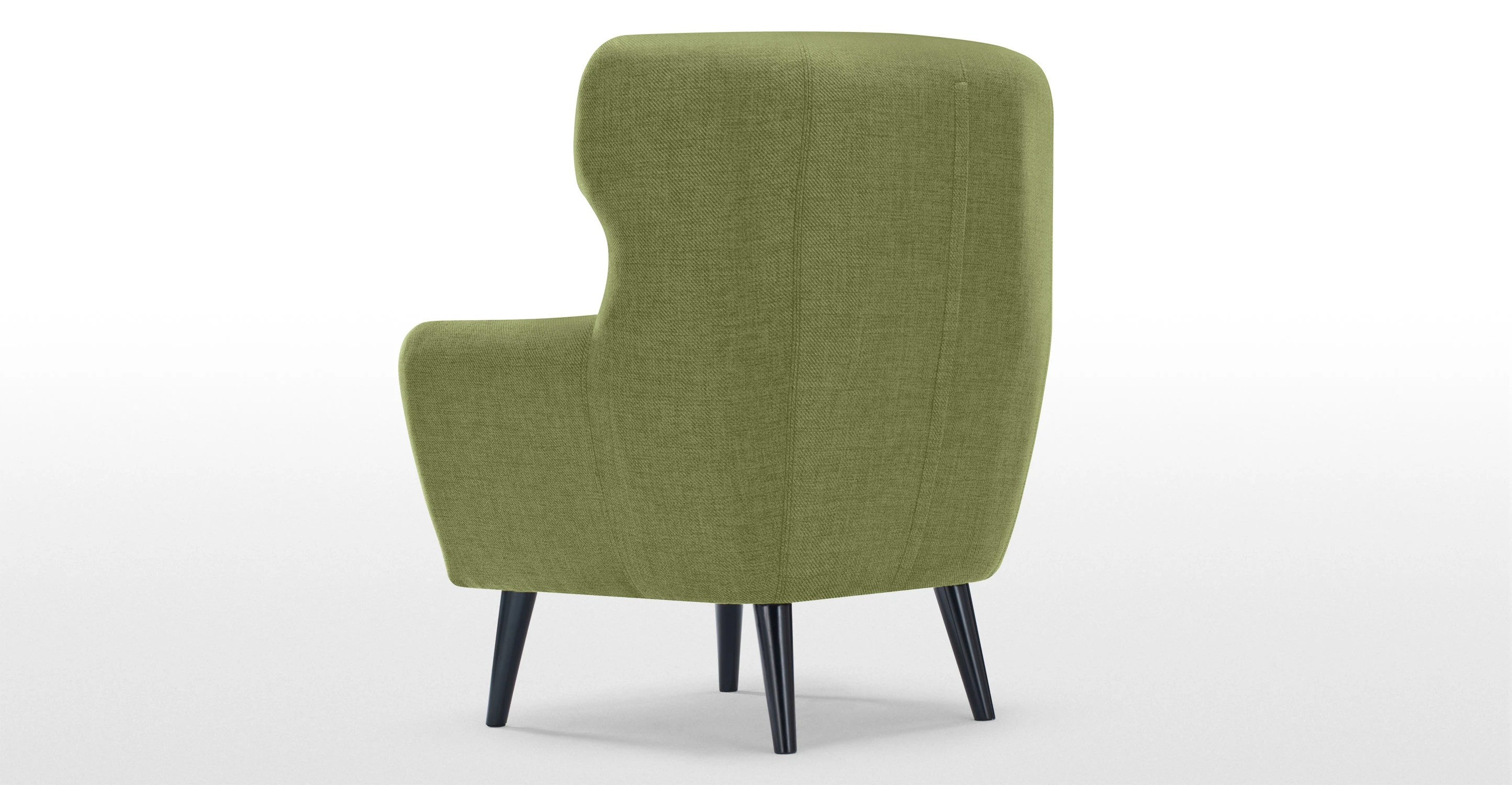 Kubrick Wing Back Chair Lime Green  madecom