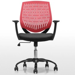 Red And Black Chair Adirondack Rocking Chairs Uk Ufficio Swivel Office In Made