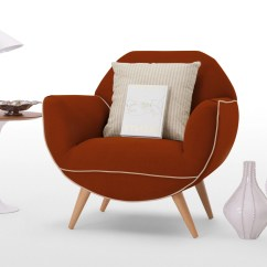 Burnt Orange Chair Uk Scoop Back Dining Chairs Juno Armchair In Made
