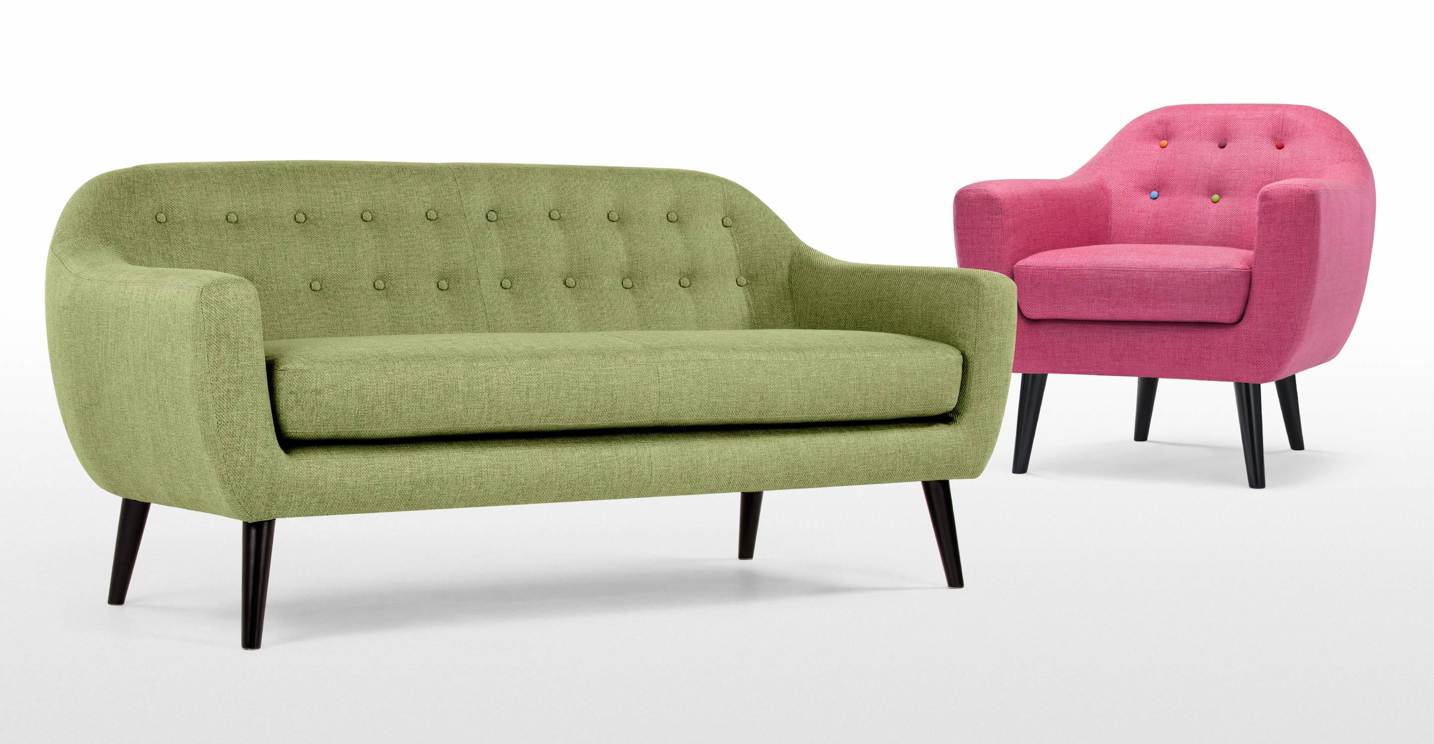lime sofa uk contemporary sectional and ottoman set black ritchie 3 seater in green made