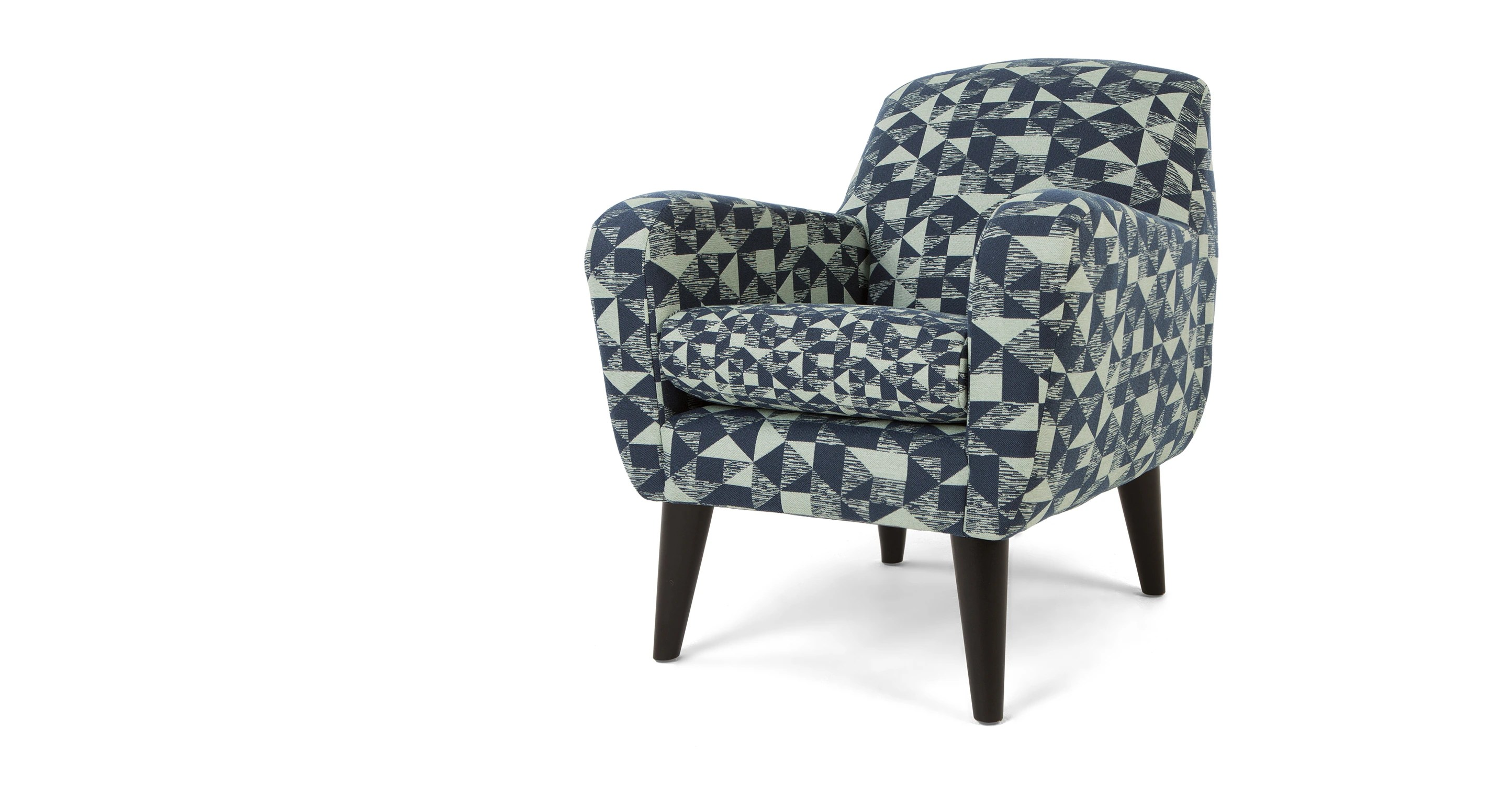 Mint Accent Chair Johan Accent Chair Graphic Print Mint And Navy Le Fait Main