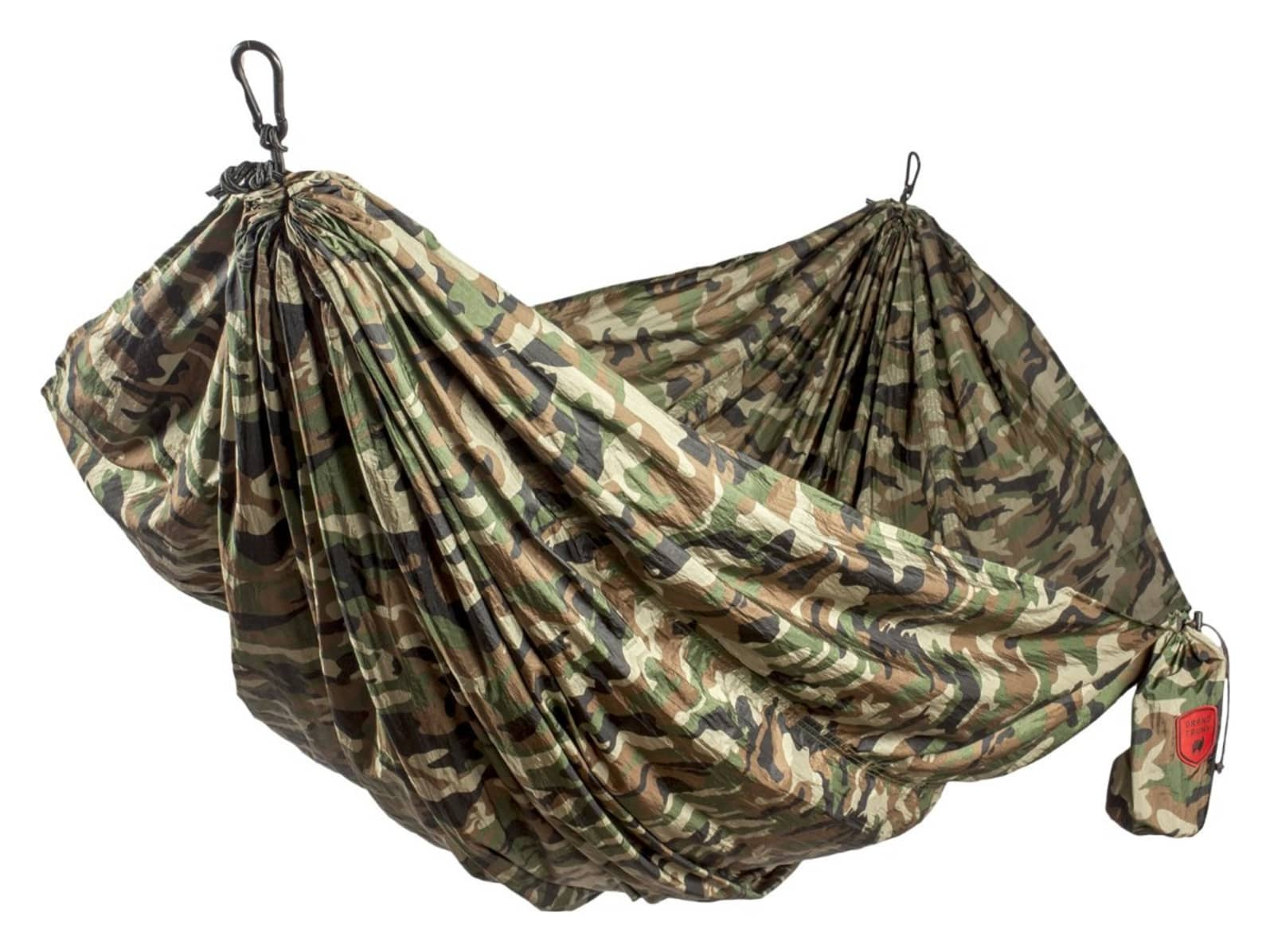 Grand Trunk Double Parachute Nylon Hammock Woodland Camo