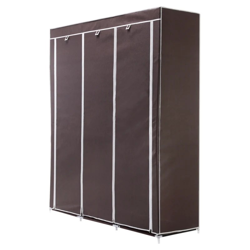 OPEN BOX Homegear Triple Fabric Portable Wardrobe Closet