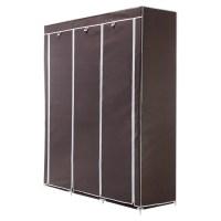 OPEN BOX Homegear Triple Fabric Portable Wardrobe Closet ...