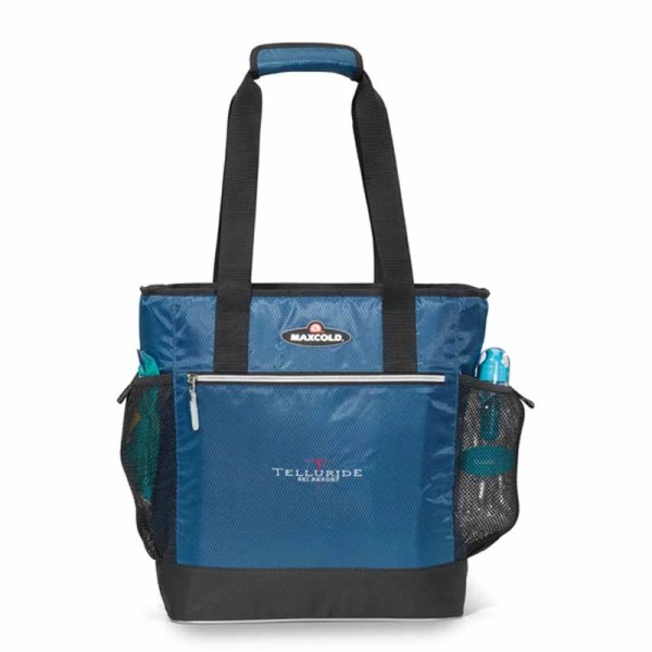 Logo Insulated Tote - Printed Cooler Silkletter