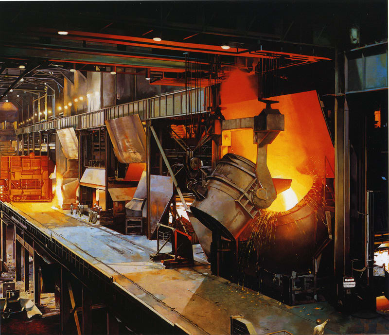 Image result for steel mill, interior, photos