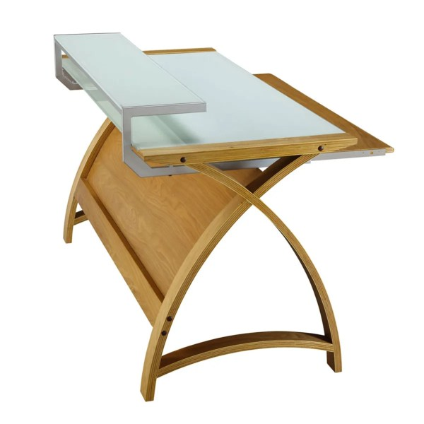 Curve Home Office Oak Desk 90cm 325.00 269.00 - Wooden Furniture Store