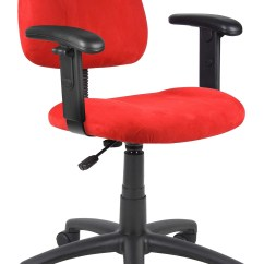 Posture Monitoring Chair Yoga For Seniors Breathing Exercises Boss Office Products Red Deluxe Microfiber