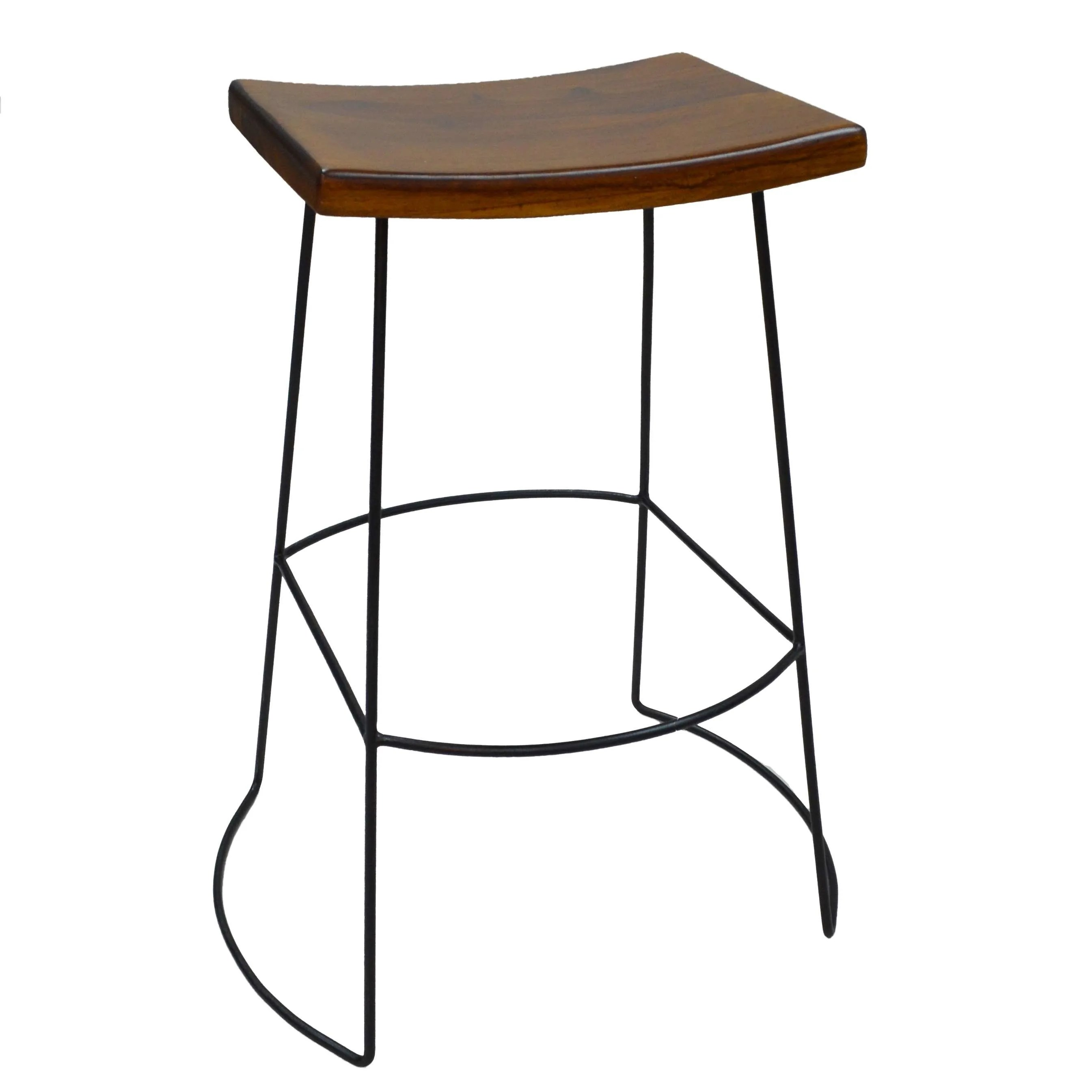 saddle seat chairs reviews antique dining value carolina chair table reece brown bar stool with metal frame