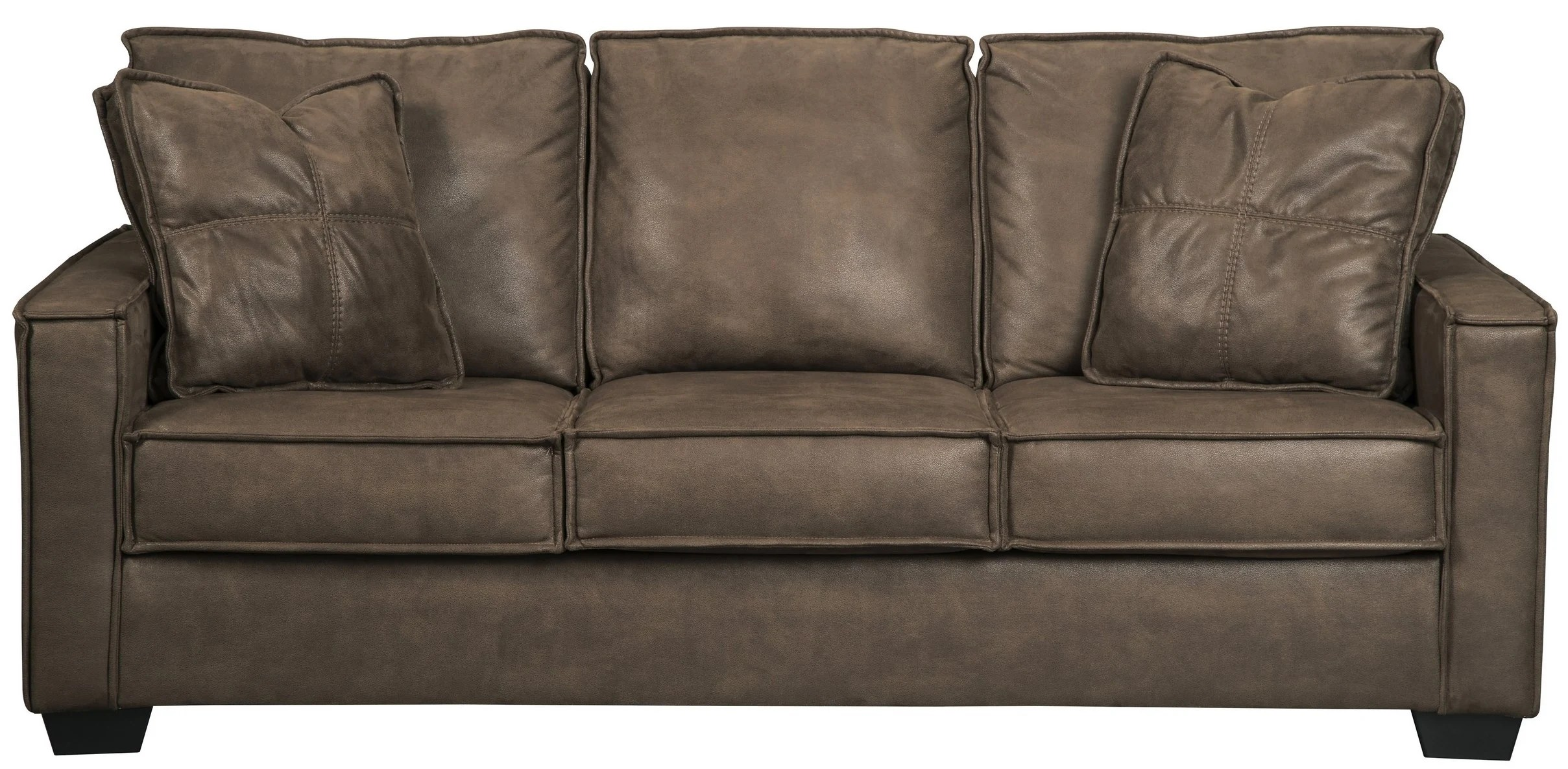 ashley faux leather sofa reviews littlewoods bed signature design by terrington harness 9290338