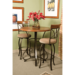 Pewter Kitchen Table And Chairs Cracker Barrel Rocking Chair Powell Bronze Hamilton Pub Reviews Goedekers
