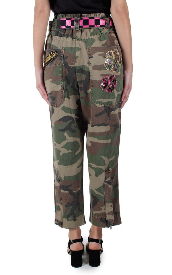 Marc Jacobs - Embellished Camouflage-print