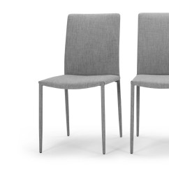 Cathedral Chairs White Wedding 2 X Braga Dining Grey Made