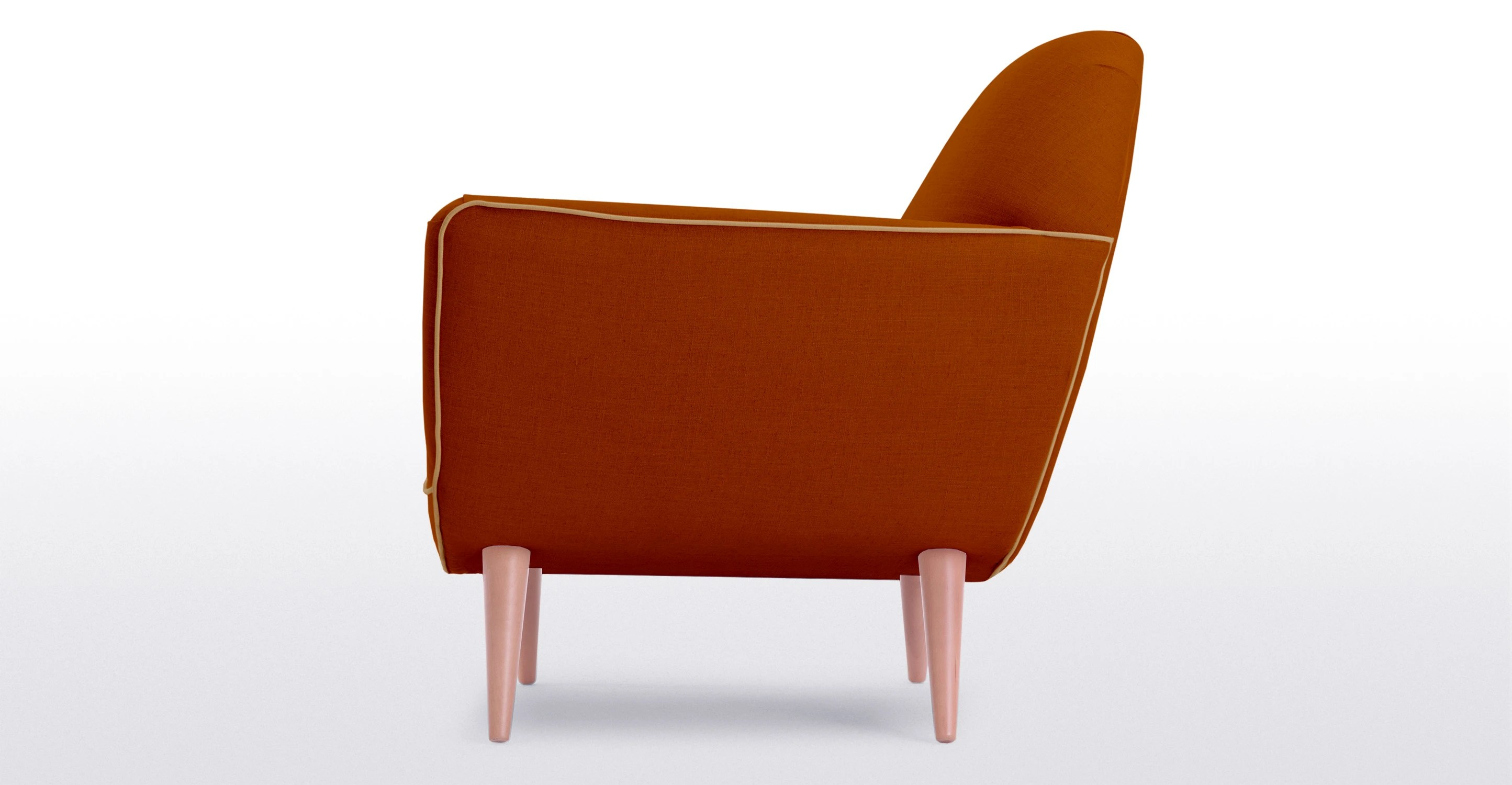 burnt orange chair uk gym instruction manual juno armchair in made