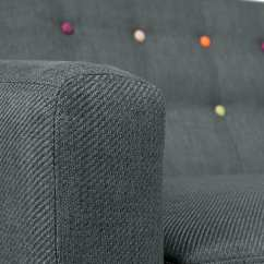Best Sofas On The High Street Antique Oak Sofa Bed Ritchie 2 Seater In Anthracite Grey With Rainbow ...