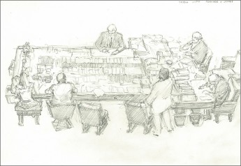 Sketches of the parliament by Tom Thompson · Museum of