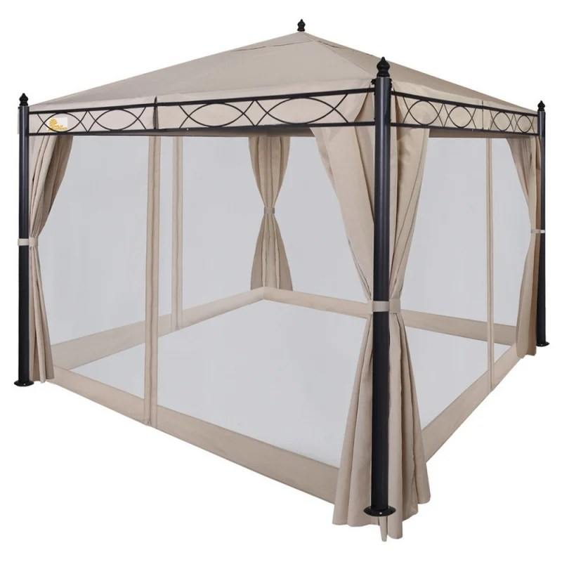 open box palm springs 10 x10 patio canopy w mosquito net