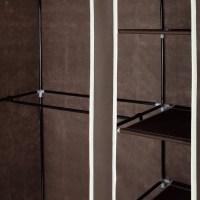 Homegear Double Fabric Portable Wardrobe Closet Dark Brown ...