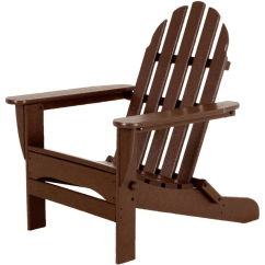 Polywood Big Daddy Adirondack Chair Yellow Spandex Sashes Classic Mahogany Folding
