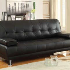 Coaster Bachman Sofa Reviews Denim Fabric Black Faux Leather Convertible Bed With