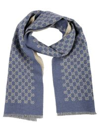 Gucci - Gucci Classic Wool Scarf - Azure, Men's Scarves ...