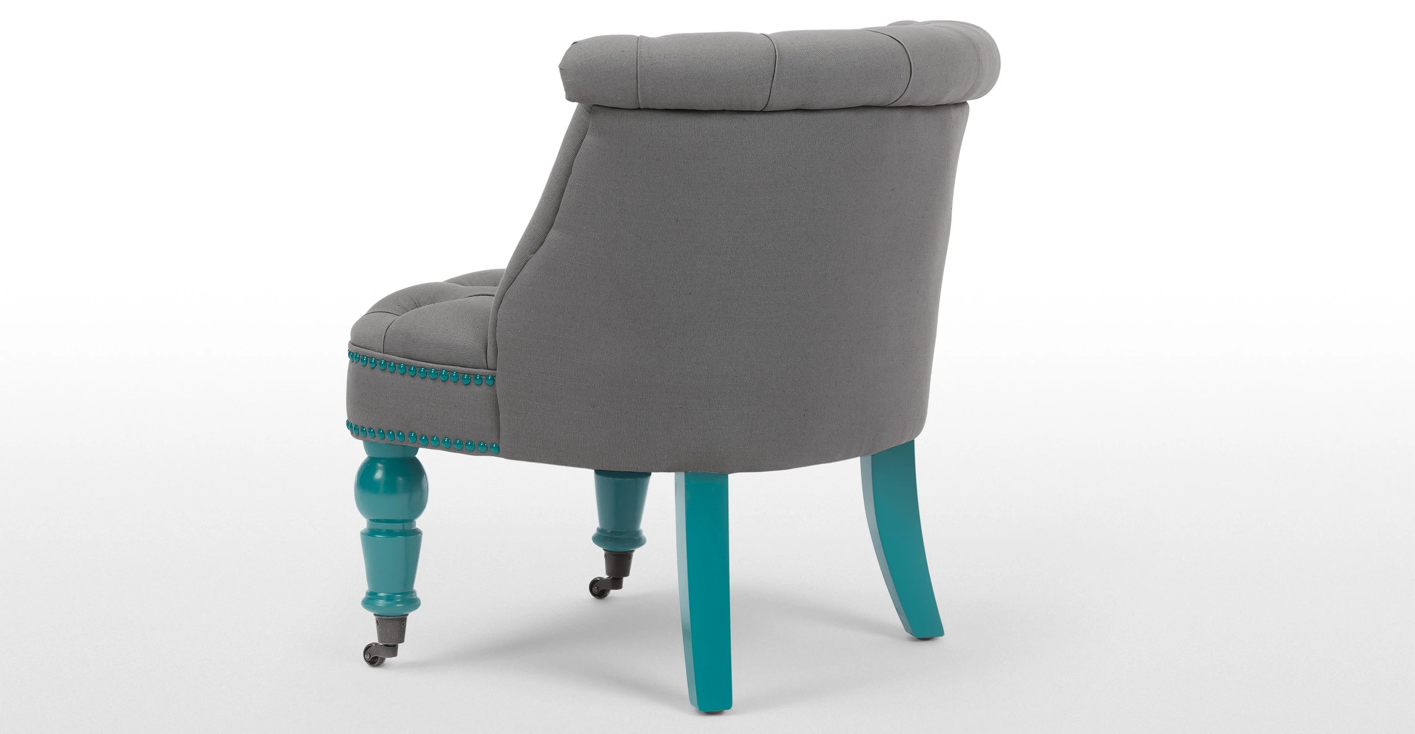 turquoise accent chairs backpack beach chair target an occasional in graphite grey and blue