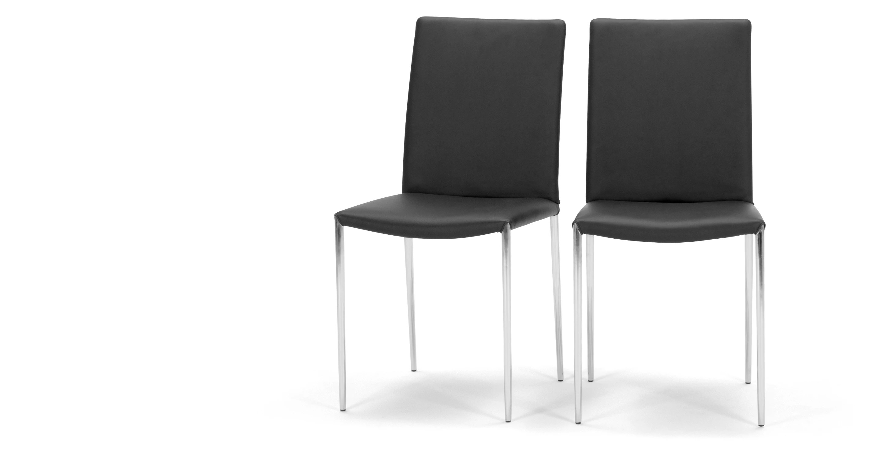 black dining room chairs with chrome legs white plastic outdoor rocking 2 x braga crow