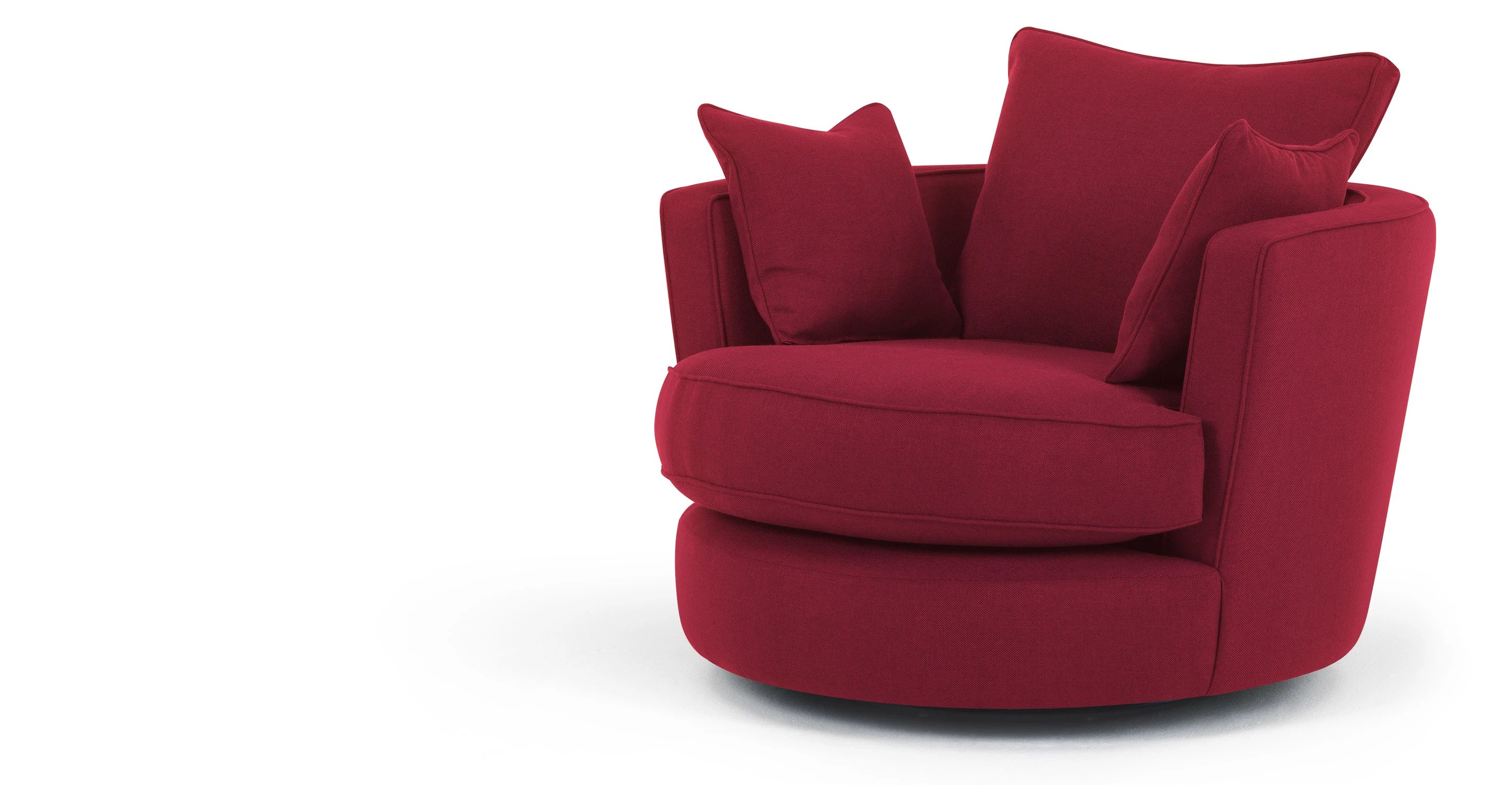 swivel chair leons wingback covers leon loveseat in cranberry red made