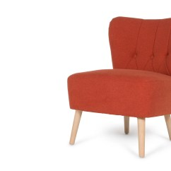 Accent Chair Orange Lift Seat For Charley Retro Made