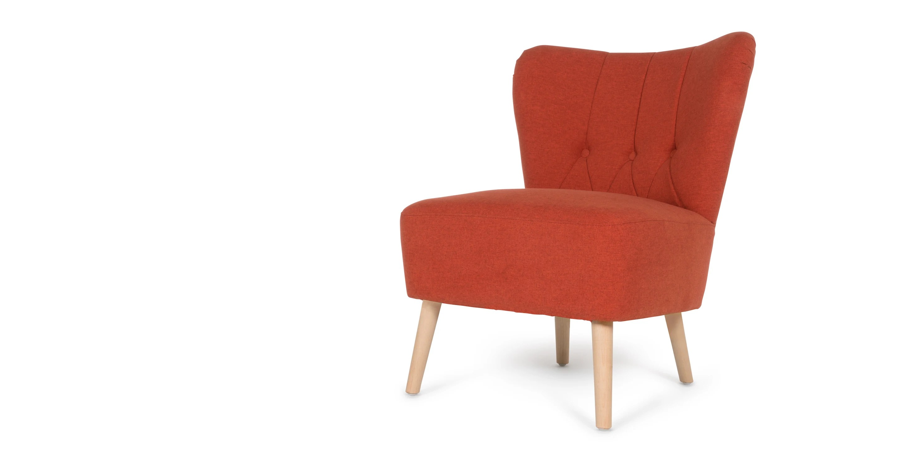 Orange Accent Chairs Charley Accent Chair Retro Orange Made