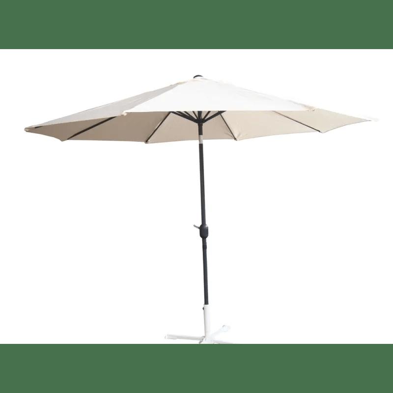 open box palm springs 8ft aluminium patio umbrella w tilt cream
