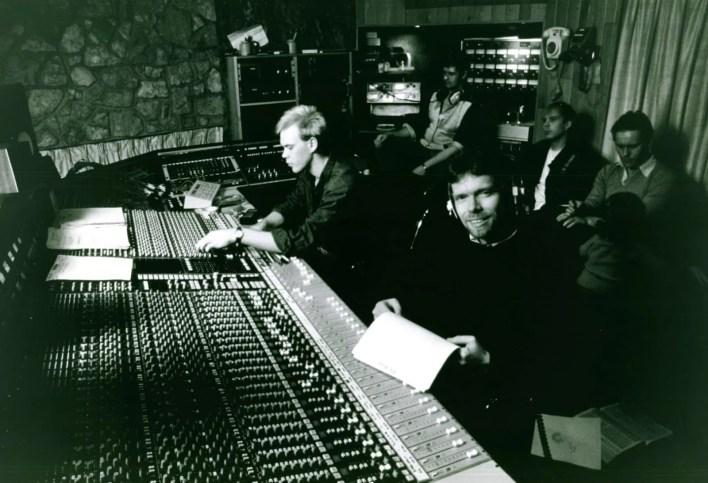 Richard records studio