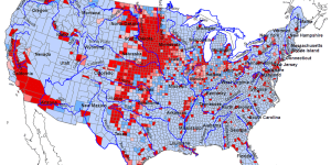 US – Water stress from 1949-2009